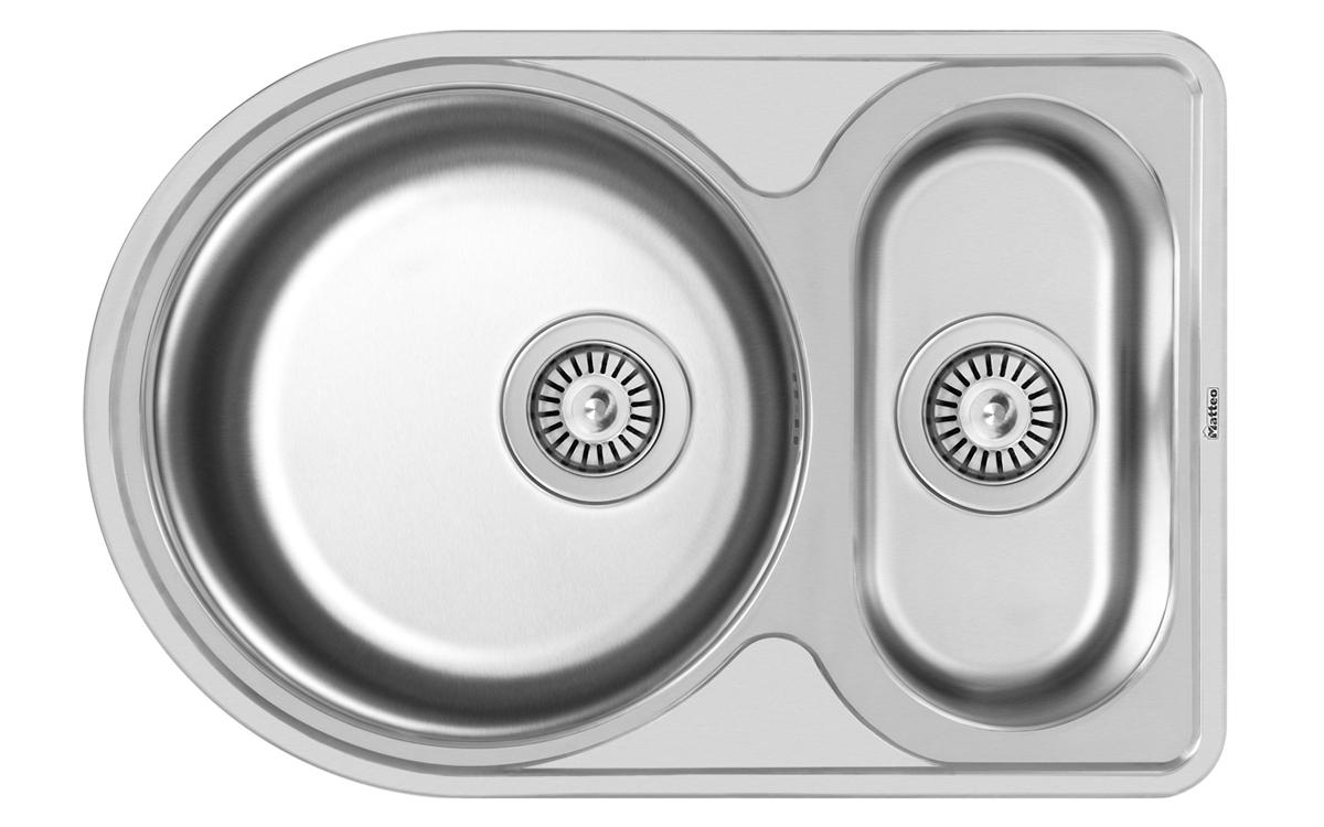 мойки для кухни круглые из нержавейкис крылом (АИ